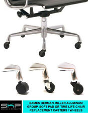 CASTERS FOR EAMES HERMAN MILLER ALUMINUM GROUP SOFT PAD OR TIME LIFE CHAIR PARTS