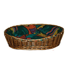 Oval wicker pet/dog/cat bed basket20''-30'',best offer or refund the difference