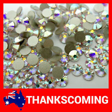 SWAROVSKI Flat Back 2058 Crystal AB Foiled Glue Fix * All Sizes * Rhinestone 144