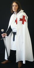 Medieval/SCA/Larp/Re enactment KNIGHTS TEMPLAR Red cross Cloak sml-XXXXL