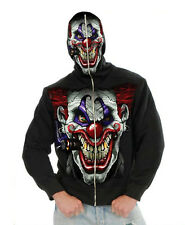 Mens Scary Evil Joker Clown Halloween Costume Hoodie