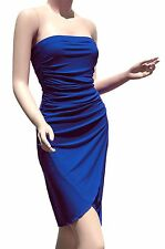 New Strapless Party Cocktail Womens Style Clubwear Royal Blue Mini Dresses S M L