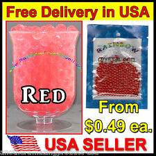 Water Marbles Red Crystal Soil Gel Balls Plants Decoration Wedding Centerpieces