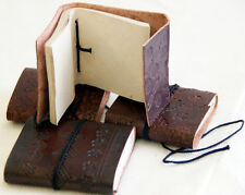 Gothic/STEAMPUNK/MEDIEVAL/Pagan/LARP/Wicca/small Leather Bound note Book