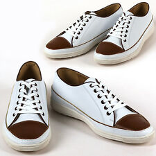 New Awesome Mens Sneakers Comfort Casual Lace Up Shoes White