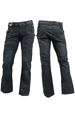 MENS ENZO EZ10 CLASSIC FIT STRAIGHT DARK BLUE JEANS REDUCED BARGAIN SALE PRICE