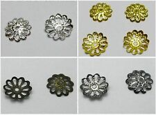 1000pcs Filigree Flower Bead Caps Findings Fit 10-16mm Beads Pick Your Colour