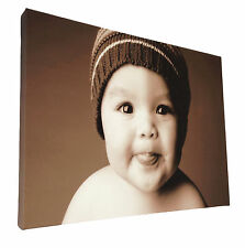 Your Picture Image Photo On Personalised Box Canvas Size 40x20 inch / 20x40 inch
