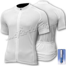 SPEG 'Blanc' Short Sleeve CoolMax® Cycle Jersey (SECONDS)