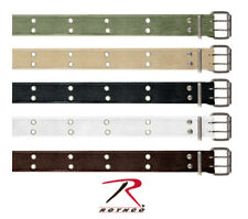 BELT VINTAGE MILITARY STYLE WITH DOUBLE PRONG BUCKLE 100% COTTON ROTHCO 4171