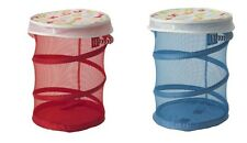 KUSINER Mesh basket with lid YOU PICK COLOR NEW Red Blue IKEA Laundry bin Kids