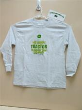 "John Deere Gray Youth Long sleeve ""My Daddy's Tractor"" Shirt"