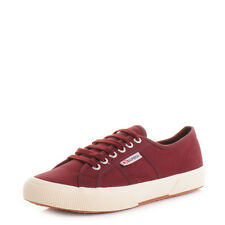 WOMENS SUPERGA COTU CLASSIC BORDEAUX RED LACE UP CASUAL TRAINERS SIZE 3-8