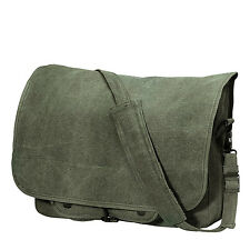 "SHOULDER BAG PARATROOPER CANVAS VARIOUS COLORS AND DESIGN 15"" X 11"" X 4"" ROTHCO"