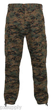 military style bdu pants cargo trousers woodland digital camo rothco 8675