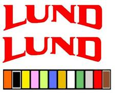 LUND BOAT STICKER DECAL FISHING *ANY SIZE OR COLOR AVAILABLE*