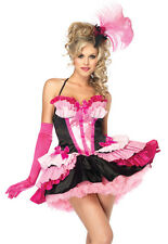 Sexy Womens Pink Flamingo Cabaret Cancan Dancer Saloon Girl Halloween Costume