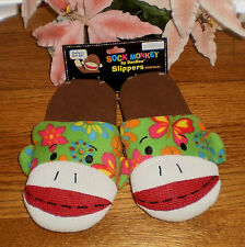 ~~ONE (1) PAIR SOCK MONKEY HOUSE SHOE SLIPPERS SO CUTE IMMEDIATE SHIPPING!~~