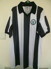 Bnwt Newcastle United Home Retro Football SS Shirt 1980