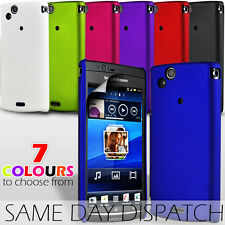 HYBRID HARD BACK SKIN CASE COVER & FILM FOR SONY ERICSSON X12 XPERIA ARC / ARC S
