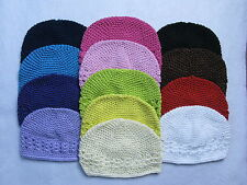 Lot 15 Crochet Kufi Hat Cap Beanie Baby Toddler Girl