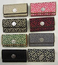 TOMMY HILFIGER WOMEN'S WALLET (CLUTCH PURSE CHECKBOOK) CHOICE OF COLORS NEW