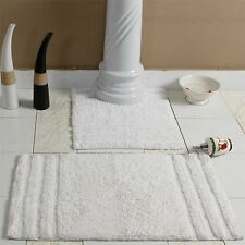 Homescapes Luxury Super Soft Heavy Spa Supreme Cotton Bathroom Mats White