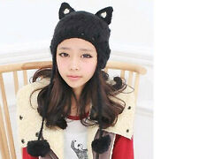Womens Gladiatus Cat Ears Beanie lovely Aviator/Trapper Winter Hat 5colors New