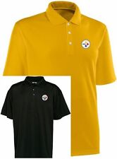 2 Pittsburgh Steelers NFL Team Apparel Polo Golf Shirts Dri Fit And Cotton