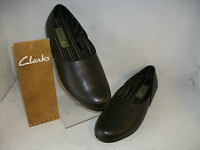 Mens Clarks King Ross Brown Leather Slippers G Fitting