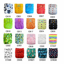 Alva 4.0 Baby Double Gussets Diapers Colored Snaps Nappy Dual Pockets +1 Insert