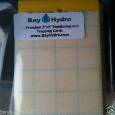 """3"""" X 5"""" Yellow Sticky Insect Traps, Thrips, Whiteflys, Aphids, Gnats & More !!"""