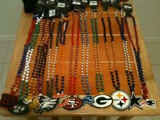 NFL MARDI GRAS STYLE TEAM BEADS Beaded Necklace -- Choose Your Team!  $6.99 each