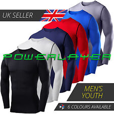 Mens Boys Body Armour Compression Baselayers Thermal Under Top Shirts Skins New