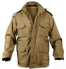 Military Style Soft Shell Tactical M-65 Field Jacket Coyote Brown rothco 5244
