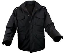 Military Style Soft Shell Tactical M-65 Field Jacket Black Rothco 5247