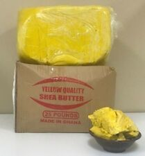 Yellow Raw Shea Butter Unrefined Organic Grade A From Ghana 2 oz. to 50 Lbs
