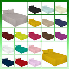 New Luxury Plain Dyed Poly Cotton Platform Base Valence Sheet, Attractive Colors