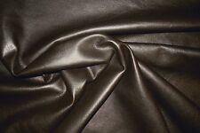 BARKERS HIDE & LEATHER N77 Dark chocolate. Soft goatskin (kid) nappa - waxy feel
