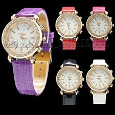 New Ladies Girls 6 Colors Fashion Jelly Crystal Quartz Watch WristWatch Watches