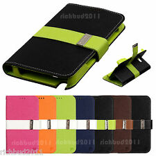 STAND WALLET CASE LEATHER FLIP COVER  FOR SAMSUNG GALAXY NOTE 2 II GT- N7100