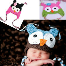 For 6-18Month Baby Fashion Gorgeous Toddler Child Photograph Owls Knit Hat Cap
