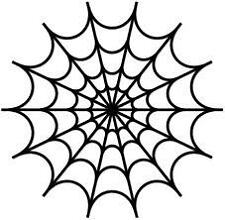 Spiders Web Creepy Silhouette Vinyl Wall Art Sticker Present Gift Image Picture