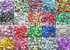 1000 3mm Acrylic Round Crystal Rhinestones Flat Back 20 Color SS12 N66