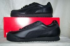 Women's NEW Puma PF Black Leather Shoes with Black Suede Trim