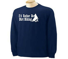 KIDS I'd Rather Be Biking Dirt Bike Motocross Sport Long Sleeve T-Shirt