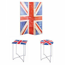 Union Jack Furniture- Room Dividers / Folding Chairs / Side Tables / Coat Rack