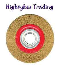 """Bench grinding wire wheel grinder 5 6 8"""" wire brush fine with reducers"""