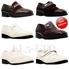 Boys New Formal Wedding Smart Party Christening Page Boy Party Dress Shoes 6 - 3
