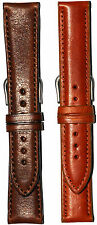 Hadley-Roma Self Lined Leather Watch Band Brown Tan MS892R 18mm 22mm Made in USA